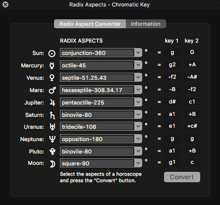Icosmo Complete - radix aspects to interval converter
